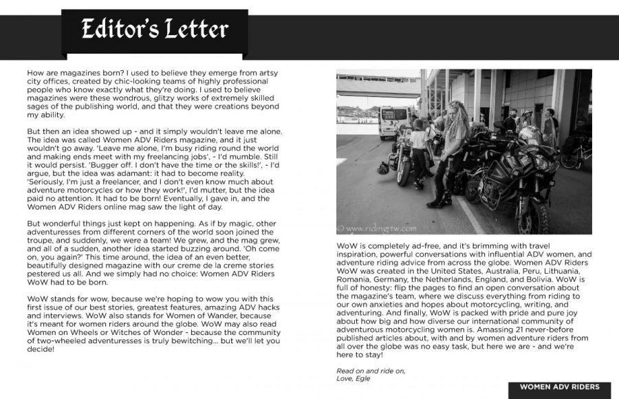WOW Editors letter