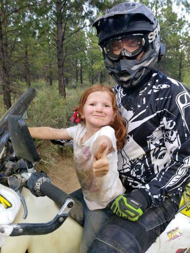 riding off road is like parenting
